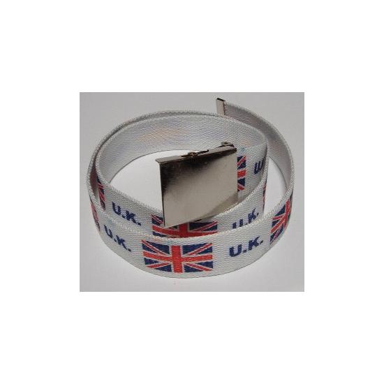 Engeland kleding riem 115 cm Wit
