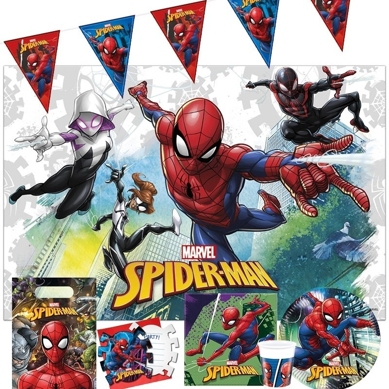 Feestpakket Marvel Spiderman kinderverjaardag Multi