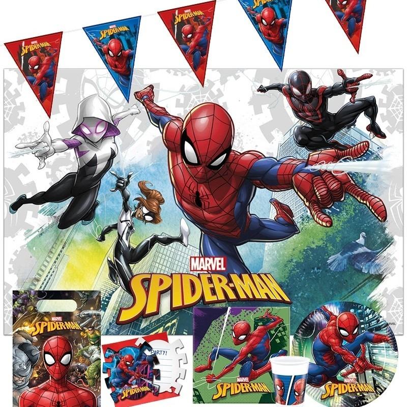 Feestpakket Marvel Spiderman kinderverjaardag Multi