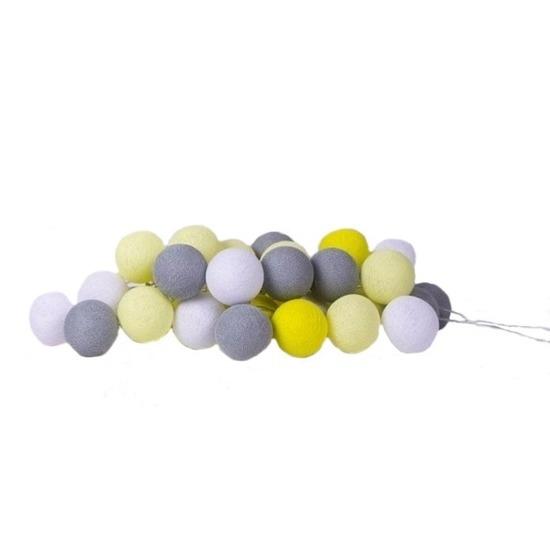 cotton balls verlichting paas kleurtjes