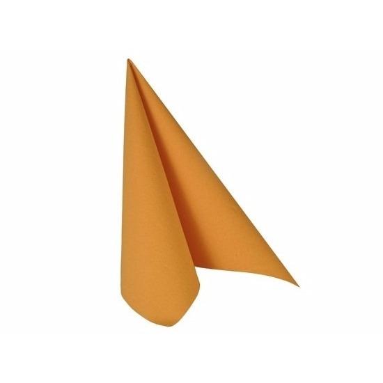 Feloranje servetjes 33x33 cm Oranje