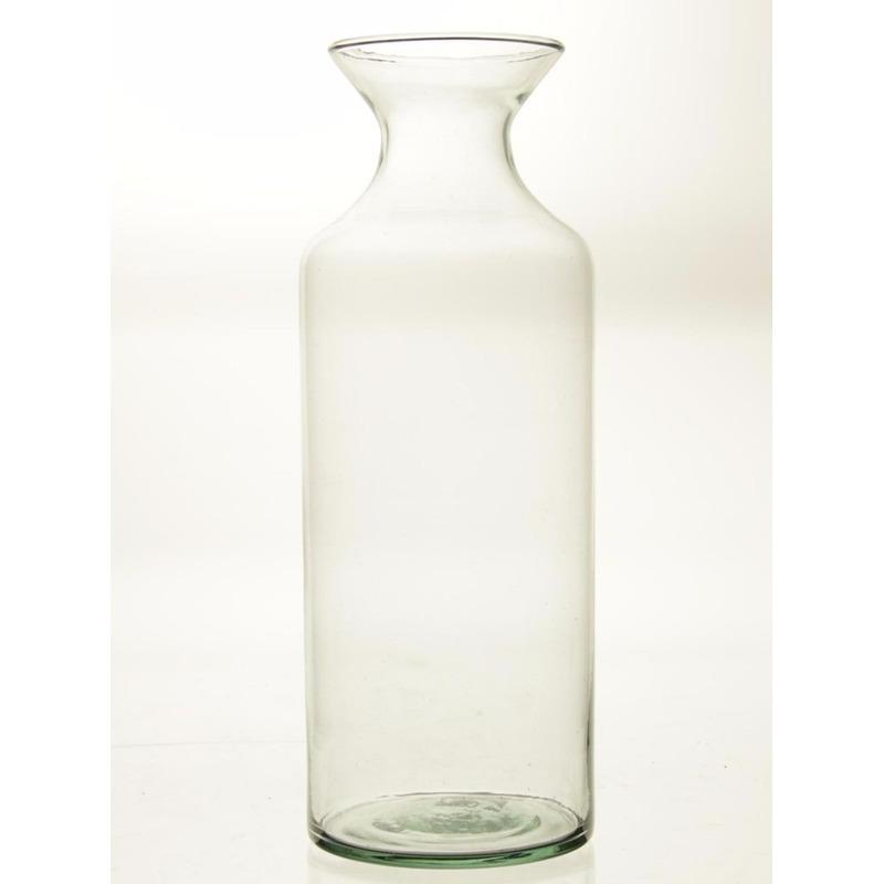 Flesvormige bloemenvaas glas 39 cm Transparant