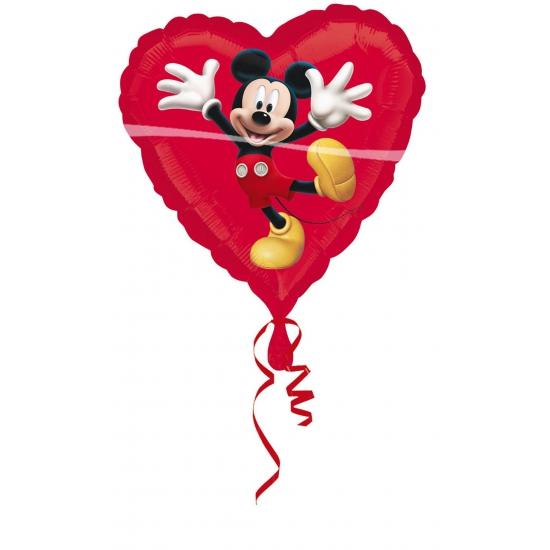 Folie ballon Mickey Mouse rood