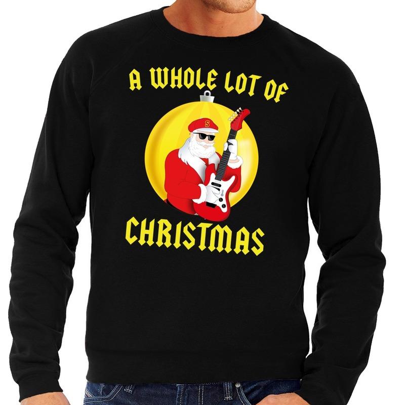 Foute feest kerst sweater zwart A Whole Lot of Christmas voor heren M (50) Zwart
