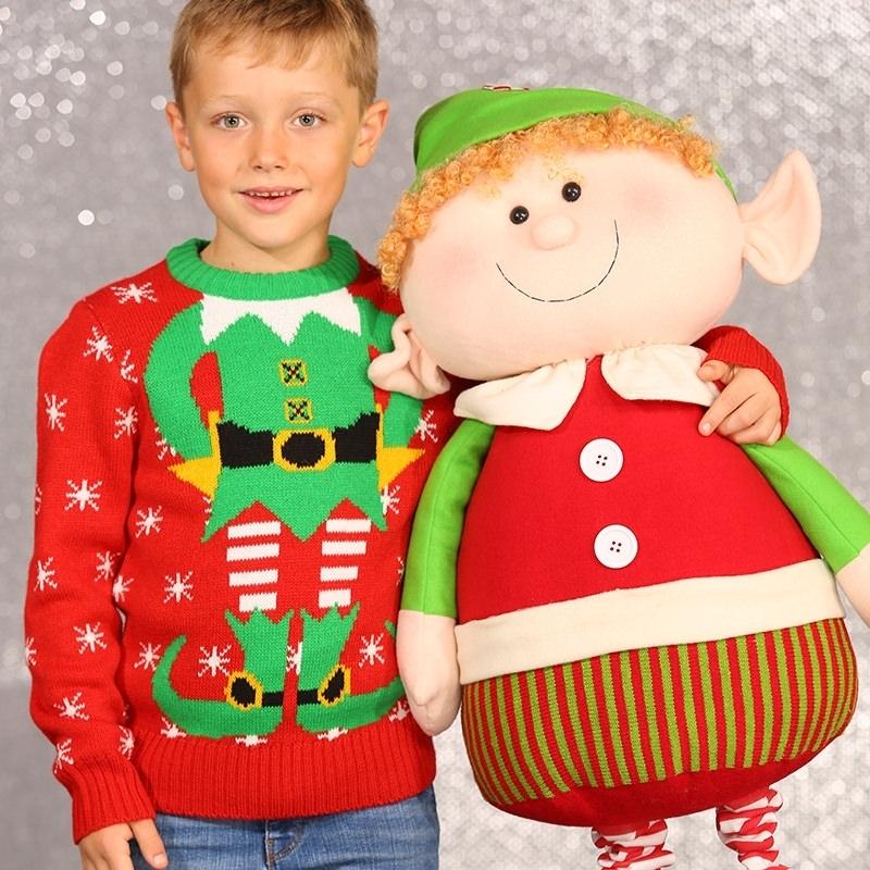 Foute kersttrui kerstelf voor kids