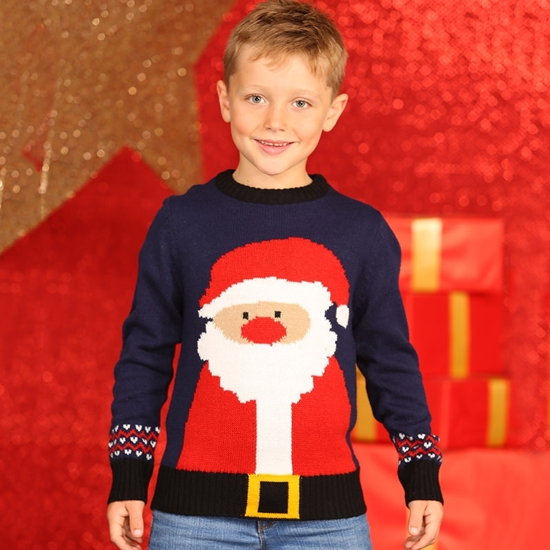 Foute kersttrui kerstman voor kids