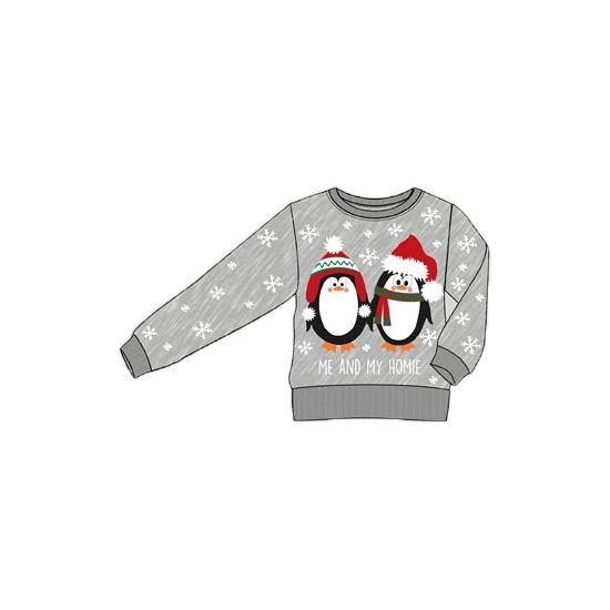 Foute kersttrui met pinguins voor kinderen