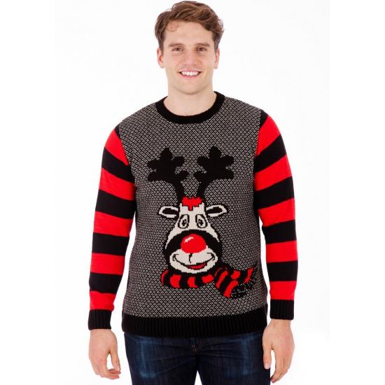 Foute kersttrui Rudy Reindeer voor heren 2XL Multi
