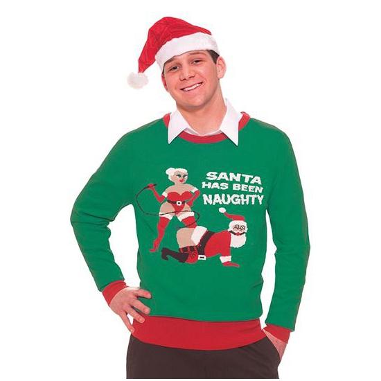 Meest Foute Kersttrui.Maffe Truien Nl Foute Kersttruien Naughty Santa