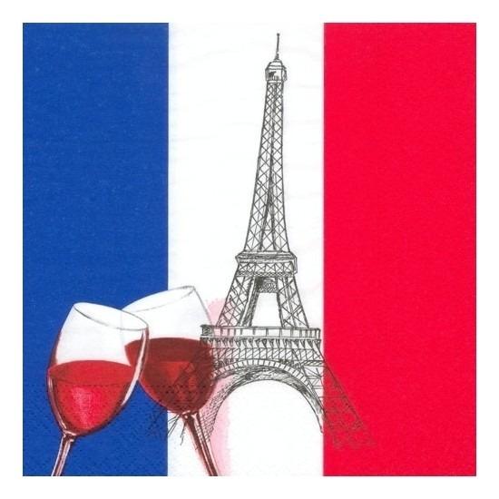 Franse servetten 50 stuks Multi
