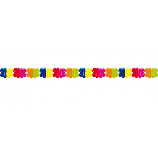 Gekleurde papieren slinger 30 jaar