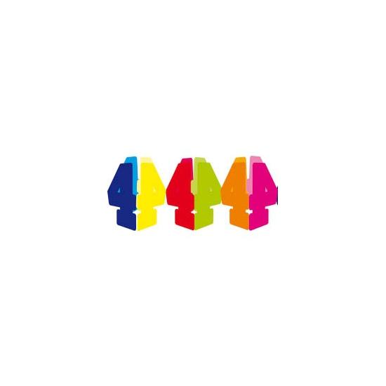 Gekleurde papieren slinger 4 jaar