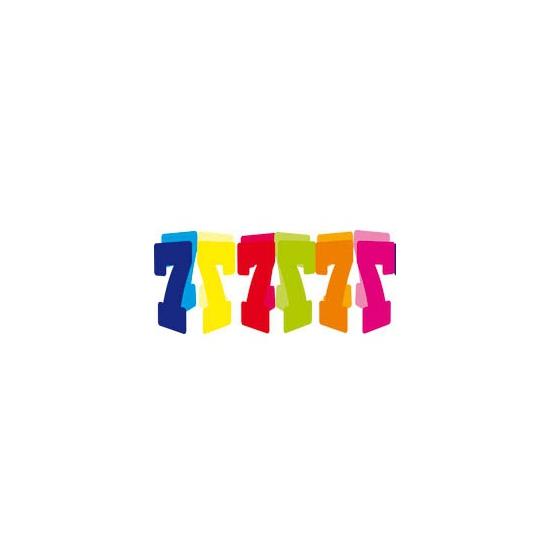 Gekleurde papieren slinger 7 jaar