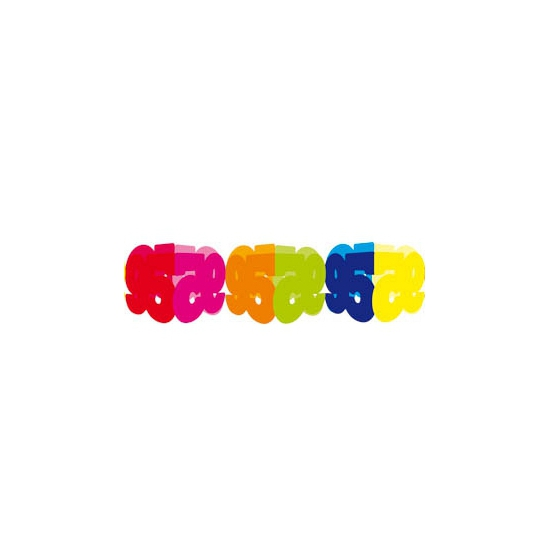 Gekleurde papieren slinger 95 jaar