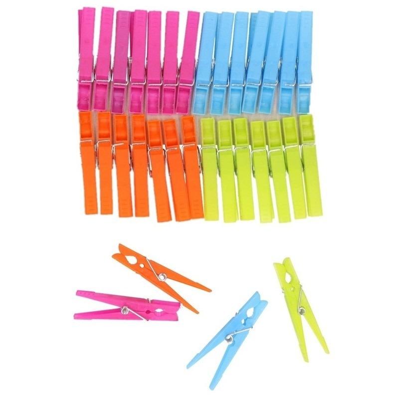 Gekleurde wasknijpers 96 stuks Multi