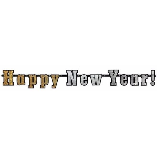 Gelukkig nieuwjaar slinger 142 cm Multi
