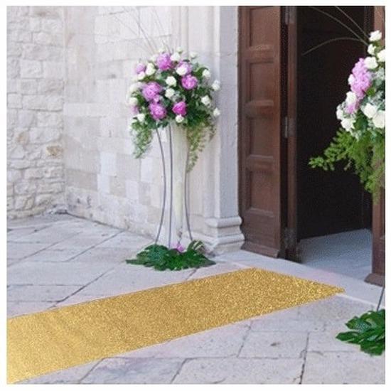 Gouden glitter lopers 1 meter breed