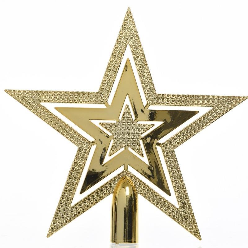 Gouden kerstversiering piek 20 cm Goudkleurig