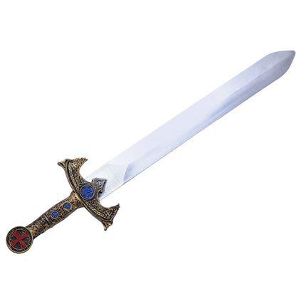 Gouden nep zwaard 58 cm Multi