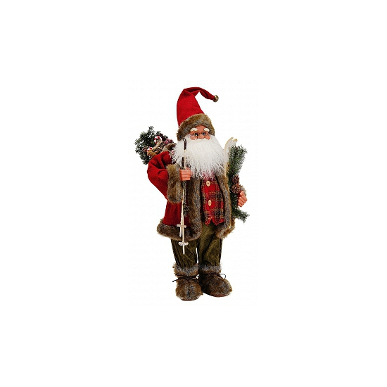 Grote decoratie kerstman pop 61 cm