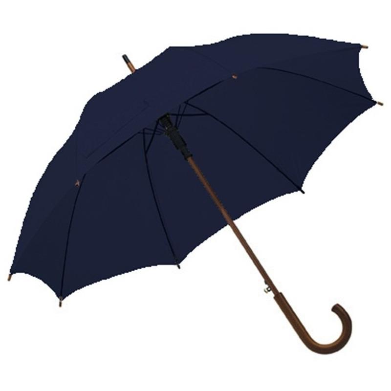 Grote paraplu navy/donkerblauw 103 cm Blauw