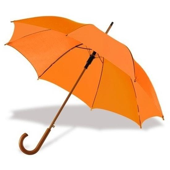 Grote paraplu oranje 103 cm Oranje