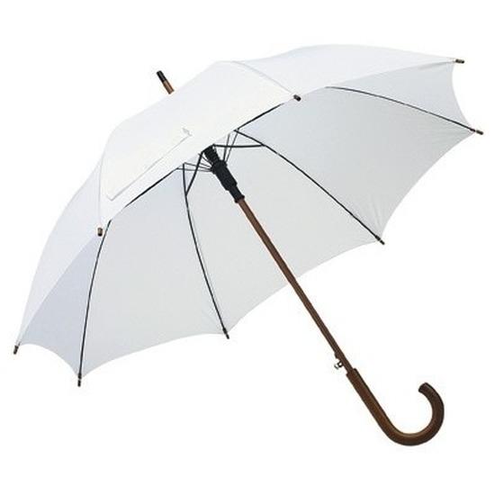 Grote paraplu wit 103 cm Wit
