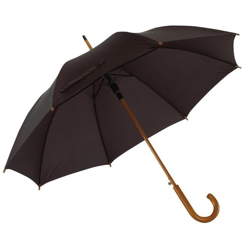 Grote paraplu zwart 103 cm Zwart