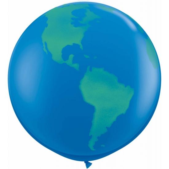 Grote wereldbol ballon 91 cm Multi