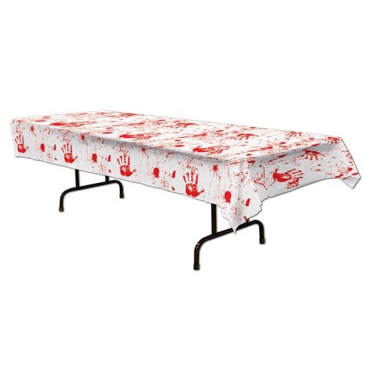 Halloween tafelkleed met bloed 275 x 135 cm Multi