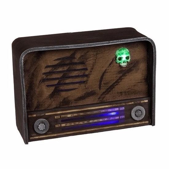 Halloween versiering radio met licht en geluid