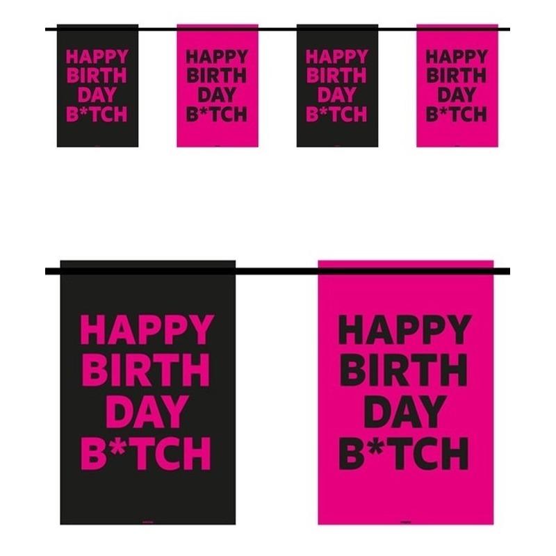 Happy Birthday B*tch 6m slingers verjaardag Multi