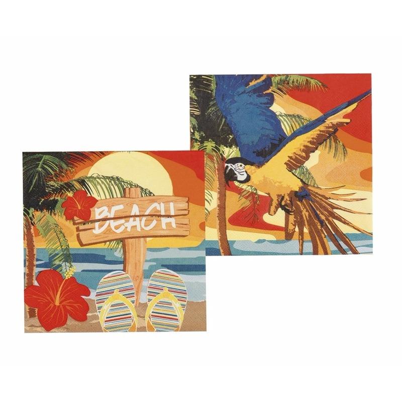 Hawaii servetjes 33 x 33 cm Multi