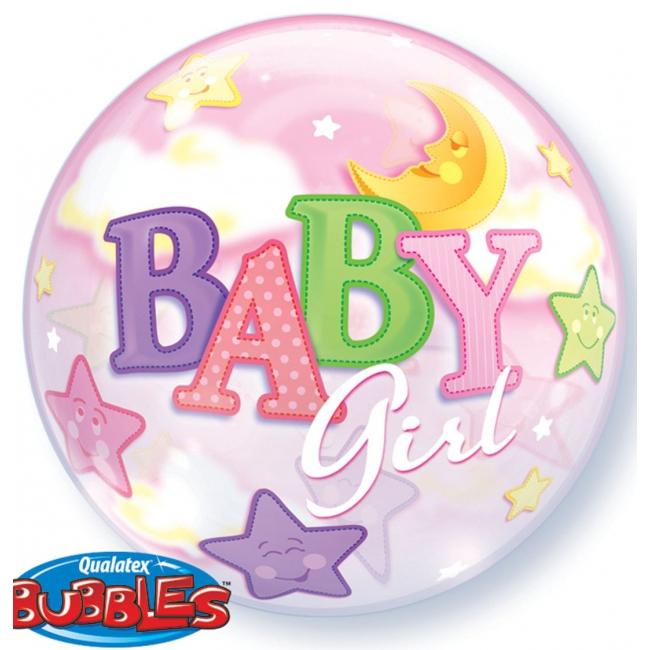 Helium geboorte ballon lichtroze