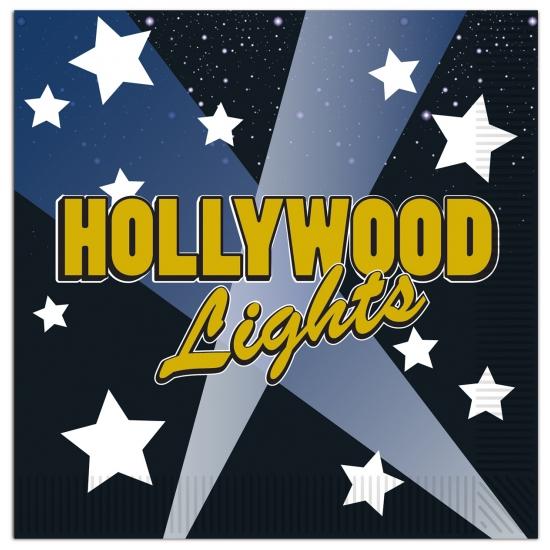 Hollywood servetten 16 stuks Multi