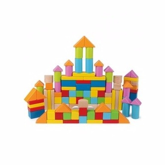 Houten bouwblokken 101 delig