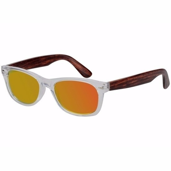 9a44dec1cc9be0 Houten dames zonnebril met gele glazen € 6.50. Bij  fun-en-feest.nl