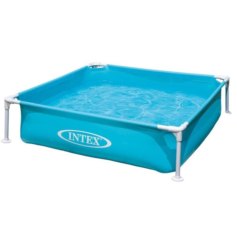 Intex vierkant buiten zwembad 122 x 122 cm Blauw