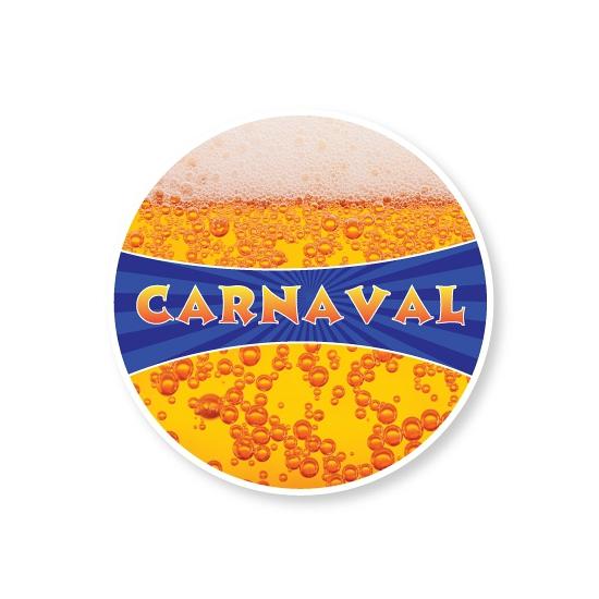 Kartonnen onderzetters Carnaval Multi