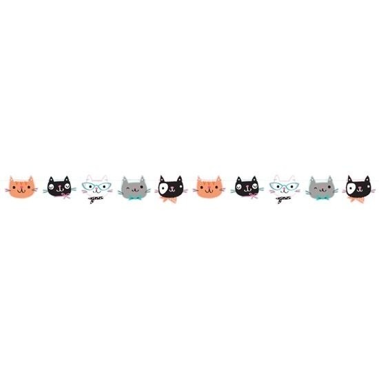 Katten/poezen feest slinger 170 cm Multi