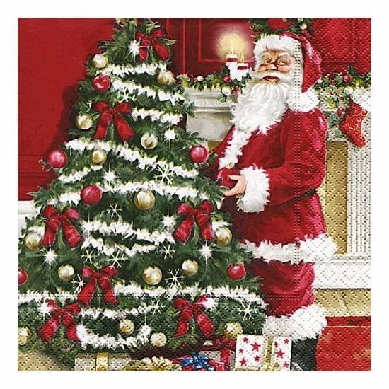 Kerst servetten 20 stuks Multi