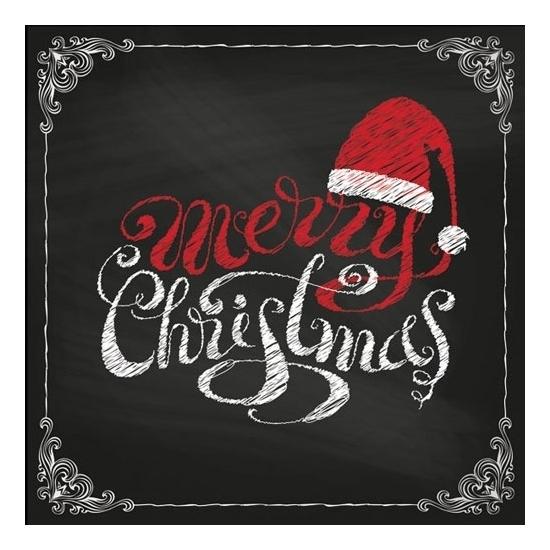 Kerst servetten Merry Christmas 20 stuks Multi