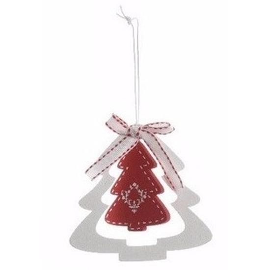 Kerstboom decoratie hanger rode kerstboom Multi