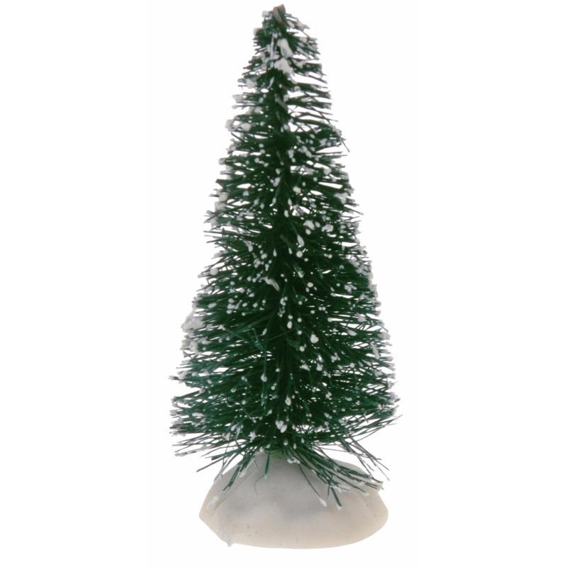 Kerstdorp boompjes groen 4 stuks