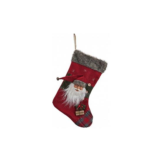 Kerstman kerstsokken 44 cm