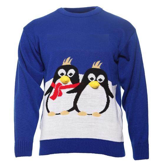 Foute Kersttrui Pinguin.Foute Kersttrui Met 2 Pinguins Fun En Feest