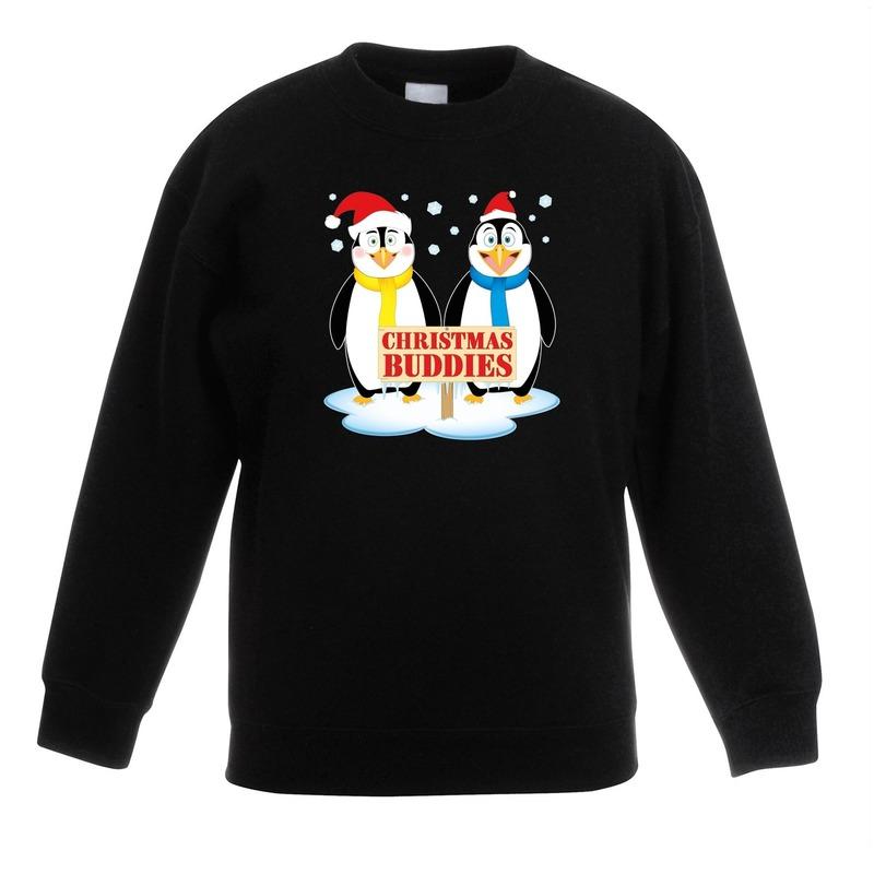 Foute Kersttrui C En A.Kersttrui Met 2 Pinguin Vriendjes Zwart Voor Jongens En Meisjes