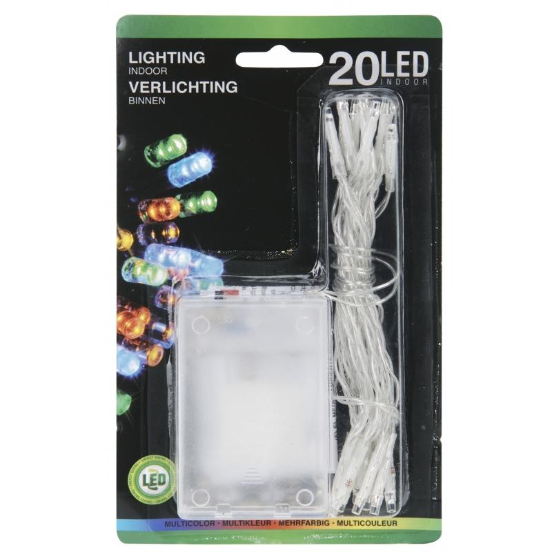 Mini Led Lampjes Gekleurd Op Batterij 20 Stuks Fun En Feest