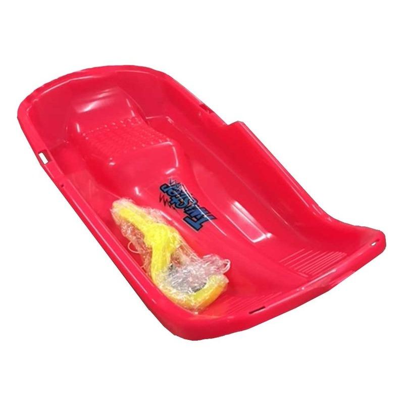 Kinder slee van plastic rood