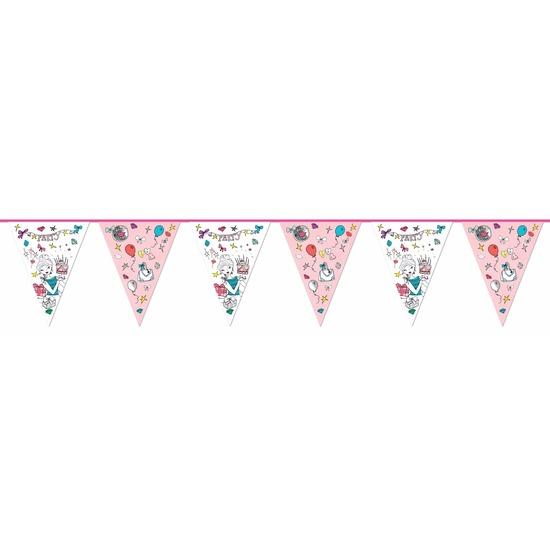 Kinderverjaardag vlaggenlijn Jill 6m Multi